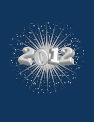 2012 with Starburst Background! Vector / Clip Art