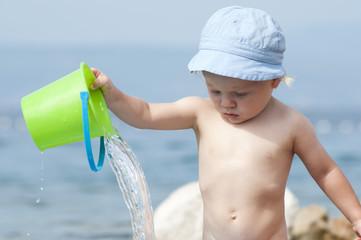 Kid at the Seaside