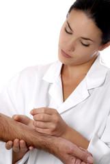 femme acupuncture