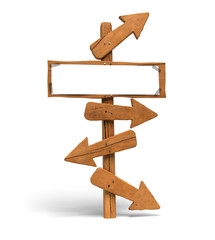 aide à la décision, panneau indicateur et flèches