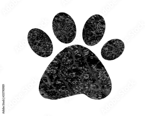 Abstract paw print