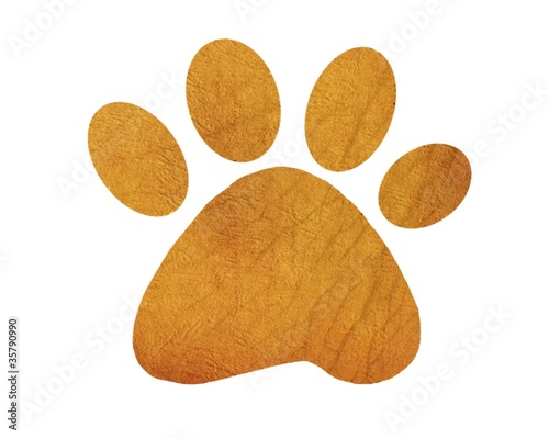 Abstract cute pets  paw print
