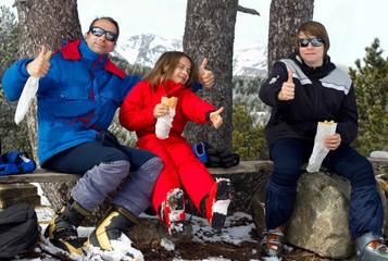 pique-nique au ski