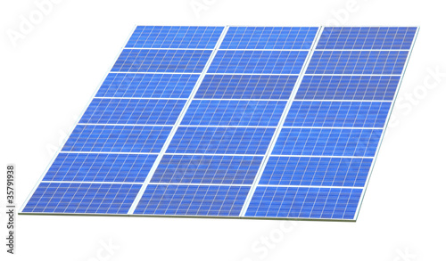 Solar Panels with white background