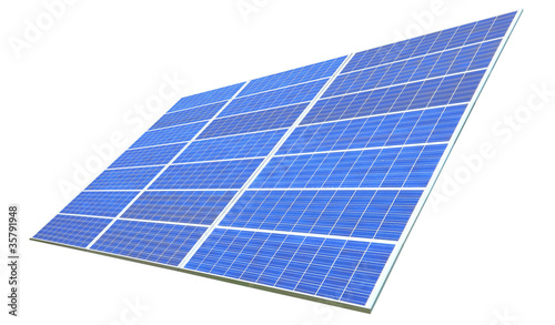 Solar Panel with white background
