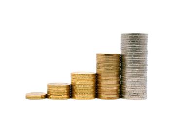 Erfolg Geld Diagramm Treppe