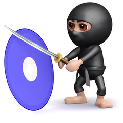 3d Ninja attacks a DVD