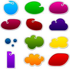 Cloudscape notification paper shapes.