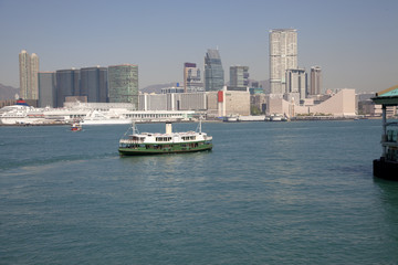 Traditional Passenger boats at Hong Kong