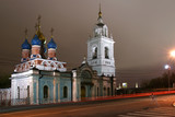 St. George Church on Pskov Hill (1657) at night poster