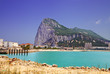 Gibraltar with view of beach