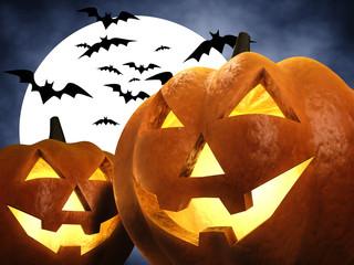 Halloween scene , 3d illustration