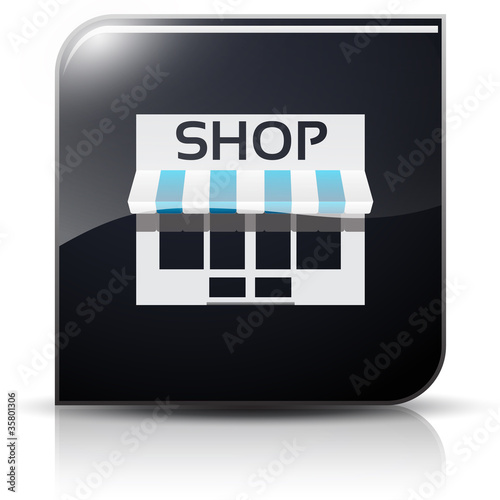Symbole glossy vectoriel commerce