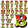 abc alphabet background circus design