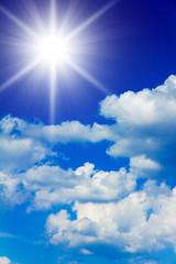 Beauty of Blue Heavens Glowing