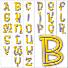 abc alphabet background brewsky design