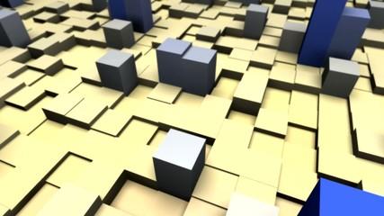 Cubes mit Farbanimation