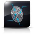 Symbole glossy vectoriel analyse empreinte digitale