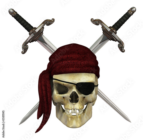 Pirate Skull with Daggers