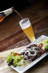 Carne com cerveja