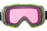 Cool ,fashion, and functional green ski goggles poster