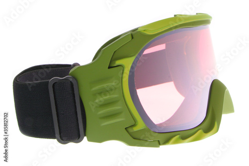 Cool ,fashion, and functional green ski goggles