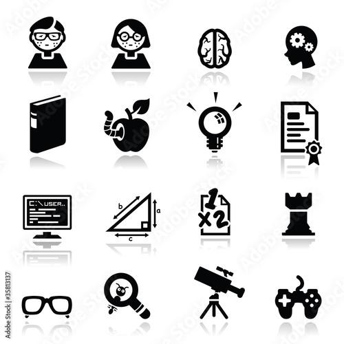 Icons set Nerds