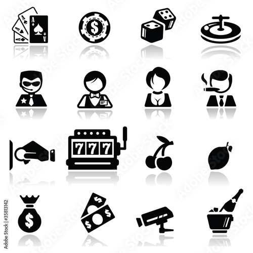 Icons set Casino