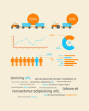 infographics as a business record development of the company poster