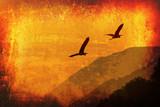 Fototapeta latający - zwierzę - Sztuczne