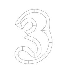 スケルトン文字3