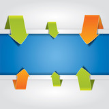 Fototapety Blue vector banner surrounded by arrows