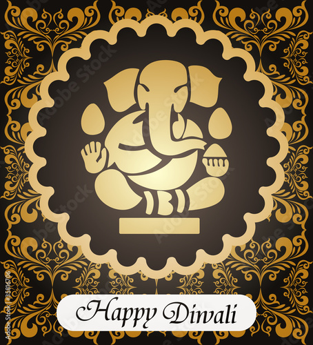 abstract diwali celebration background
