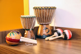 bongos and maracas