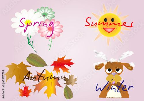 Fondo de las estaciones del año en ingles