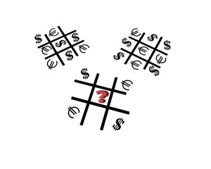 Dollar-Euro ... Tic-tac-toe game. Whose turn now?
