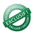 """Tampon """"EXCLUSIF!"""" (offre spéciale web internet en exclusivité)"""