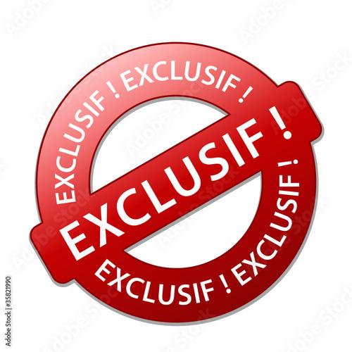 """Tampon """"EXCLUSIF!"""" (offre spéciale en exclusivité web internet)"""