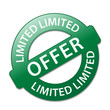 """LIMITED OFFER"" Marketing Stamp (sale sticker special offers)"