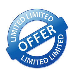 """LIMITED OFFER"" Marketing Stamp (special offers sale sticker)"