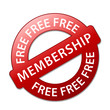 """FREE MEMBERSHIP"" Marketing Stamp (registration special offers)"