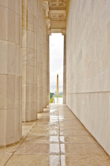 vieview to Washington Monument from Lincoln Memorial
