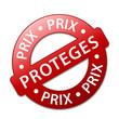 """Tampon Publicitaire """"PRIX PROTEGES"""" (soldes promotions)"""