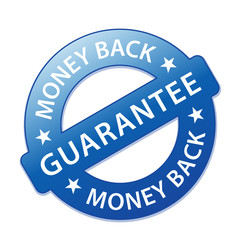 MONEY BACK GUARANTEE Marketing Stamp (price promise tag sticker)