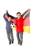Junge Fussballfans