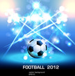 football light poster, easy editable