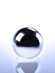 Chrome Ball In Blue Light