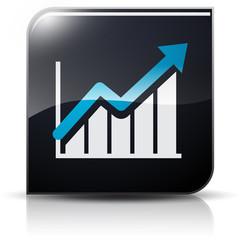 Symbole glossy vectoriel hausse reprise