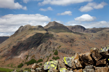 Langdale Pikes from Side Pike, English Lake District, Cumbria