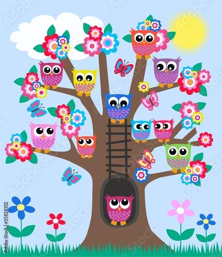 duzo-sow-w-drzewie